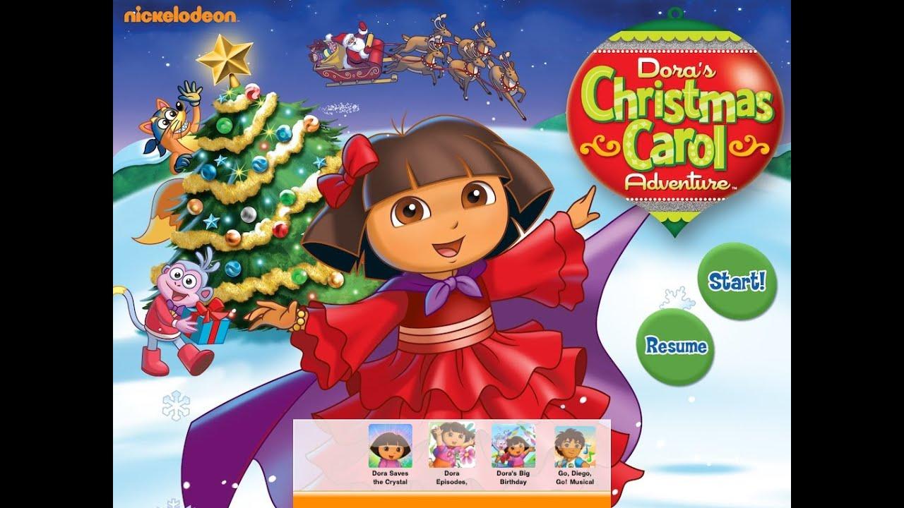 Dora the Explorer Game movie - Dora Christmas Carol - YouTube