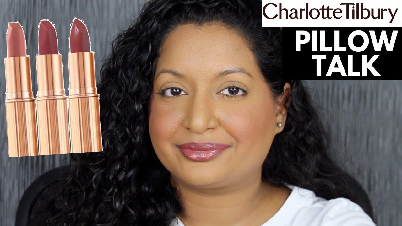 charlotte tilbury pillow talk lipstick swatches original medium and intense