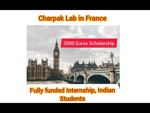 Fully funded Internship in France, Indian students