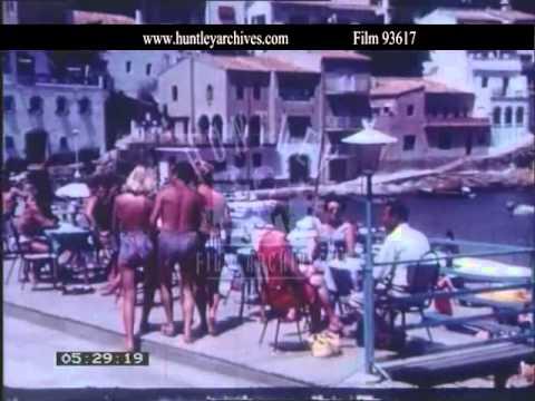 Aigua Blava in Spain.  Archive film 93617