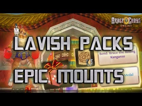 Order & Chaos Online - OPENING LAVISH PACKS - EPIC MOUNTS!?