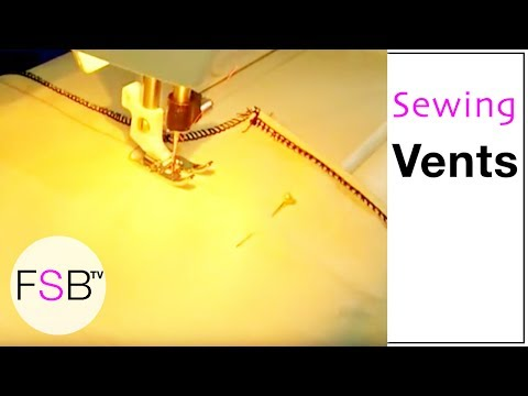 Sewing a Vent