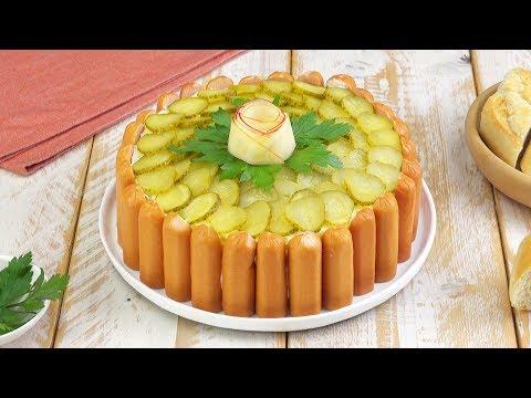 Kartoffelsalat Mit Würstchen  - Ein Rezept Für Den Klassiker Als Torte Oder Kuchen