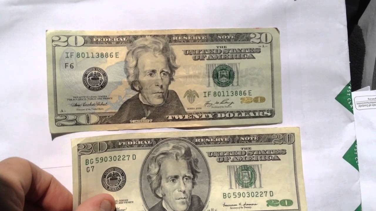 20 Dollar Bill New And Old