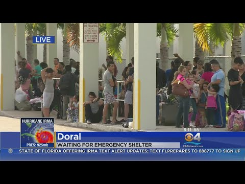 Miami-Dade Shelters Filling Up Quickly As Hurricane Irma Approaches