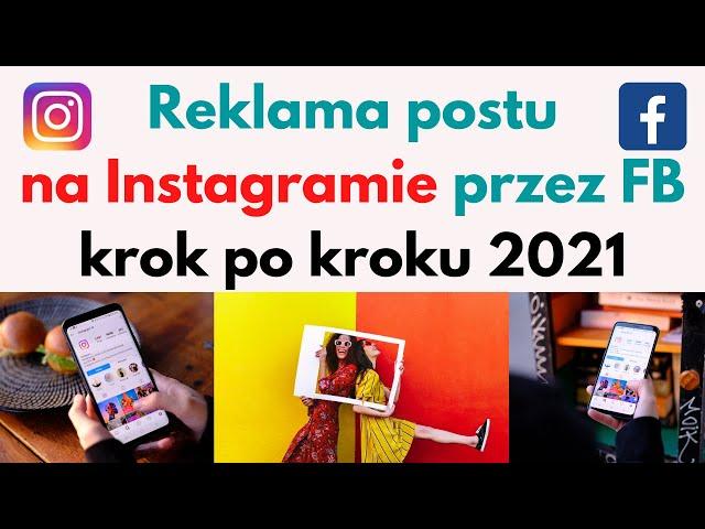 Reklama postu na Instagramie przez Facebook 🎯 Krok po kroku 2021 👨💻