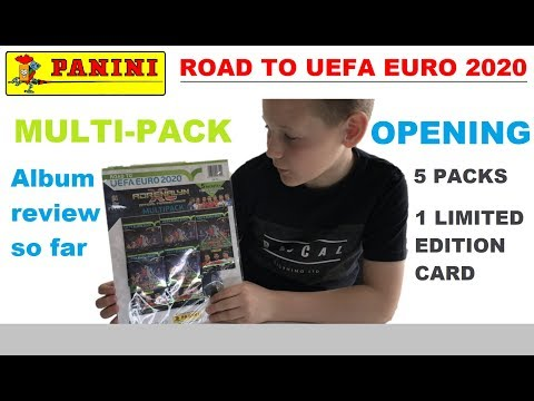Opening The PANINI Road To UEFA Euro 2020 Multi-Pack With Limited Edition Card PLUS 5 Booster Packs