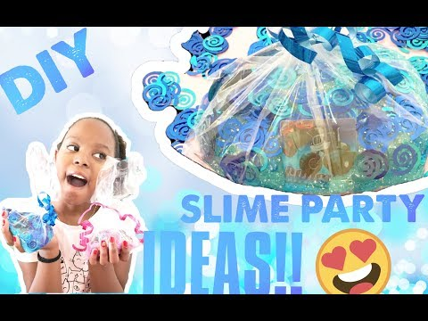 DIY SLIME BIRTHDAY BAG IDEAS!!