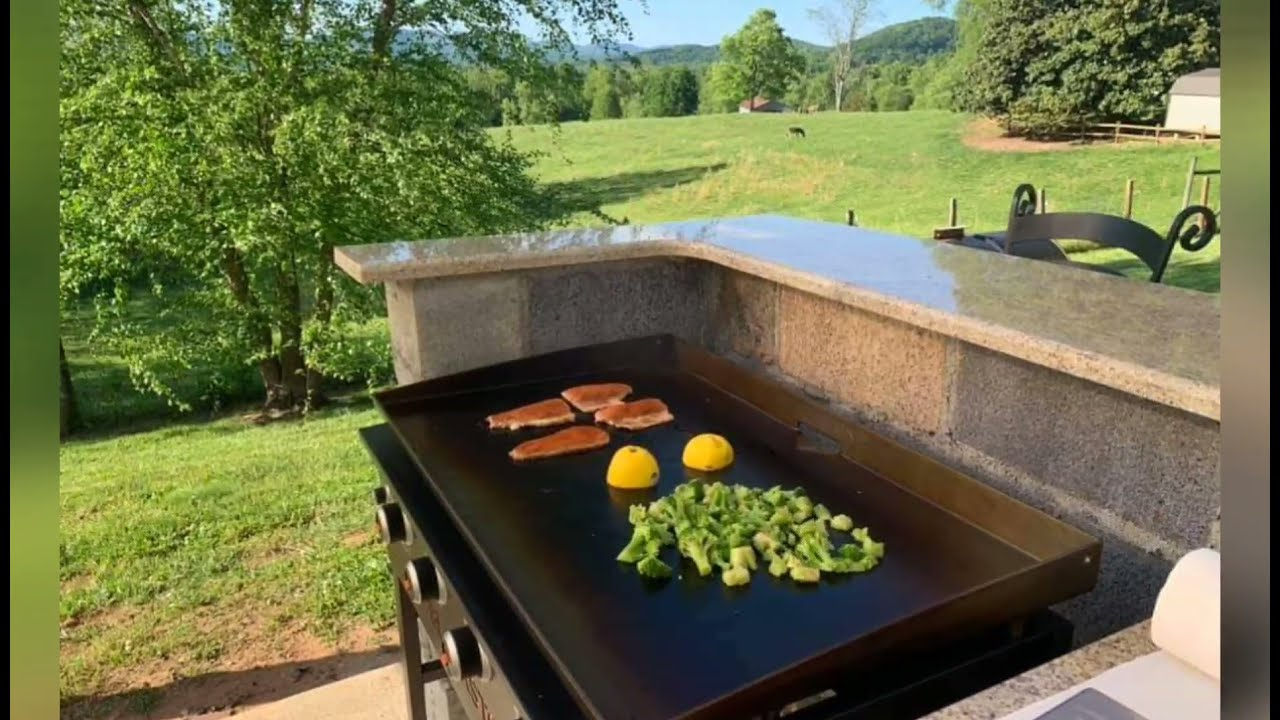 Blackstone Griddle Outdoor Kitchen Setup Compilation Youtube