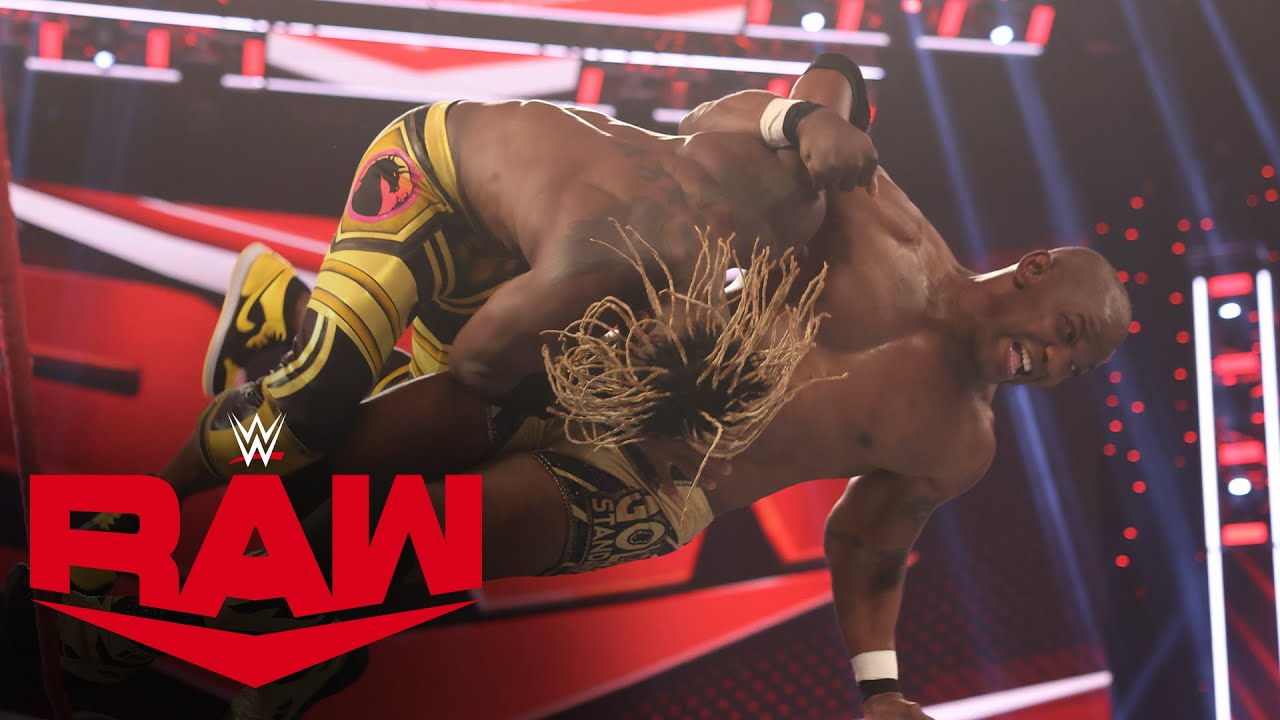 The Hurt Business vs. The New Day – Raw Tag Team Championship Match: Raw, Mar. 15, 2021