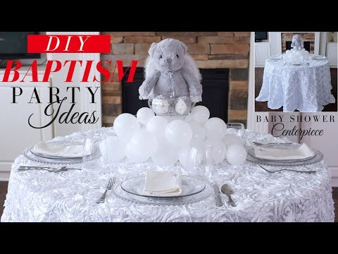 Baptism DIY Party Decoration  |  DIY Baby Shower Decor