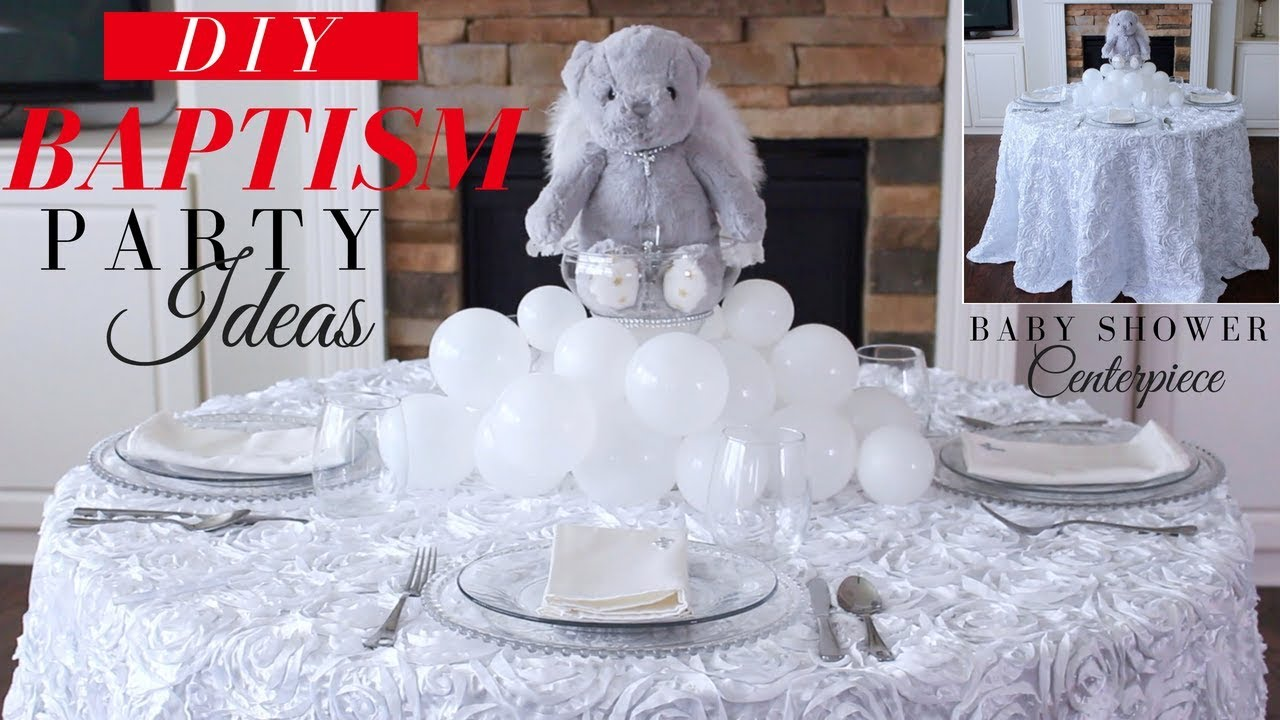 Baptism Party Decoration Ideas Diy Baptism Centerpiece Teddy