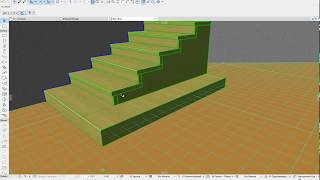 Лестницы в ArchiCad 21. Консольная лестница.