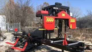 Portable Sawmill Timberking 2000 In Action