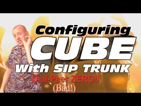 How to configure CUBE with SIP Trunk with free ITSP for Home Lab use