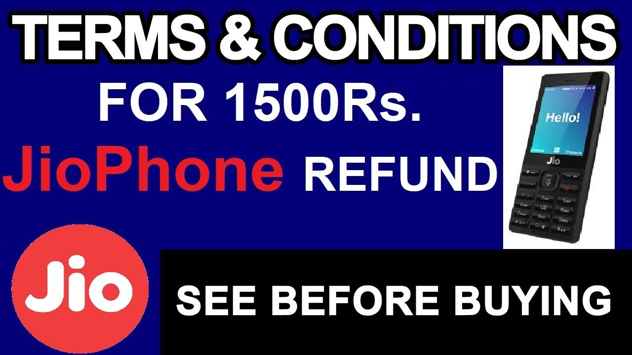 Jio phone terms and conditions jio phone booking reliance jio gujju it