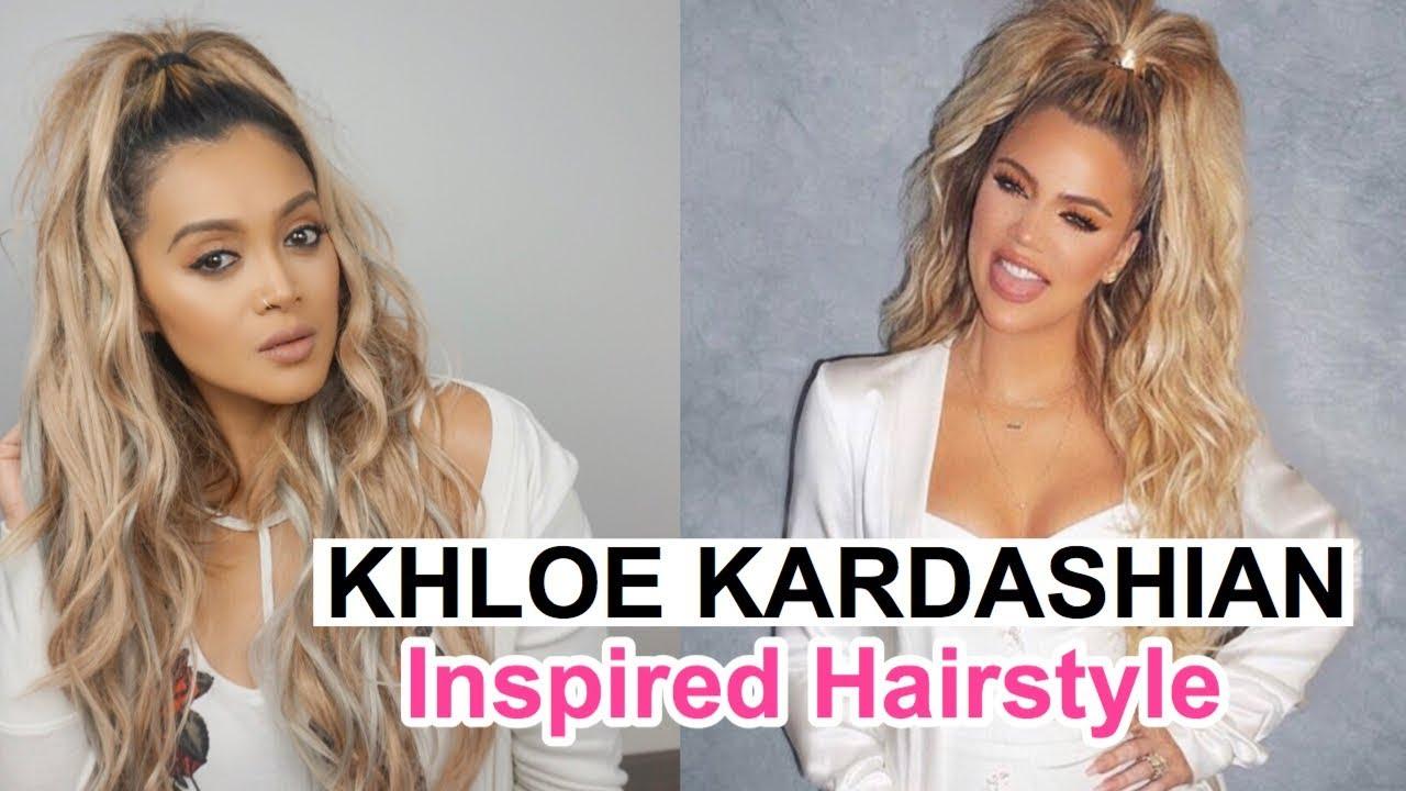 khloe kardashian inspired hairstyle