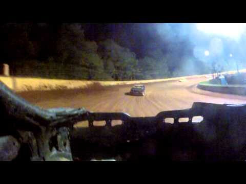 Camo Cars first time a Lancaster Motor Speedway 8-31-14 Rear Camera View