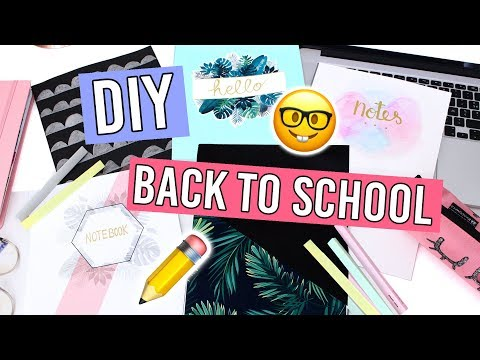 DIY BACK TO SCHOOL / CUSTOMISEZ VOS CAHIERS 📚