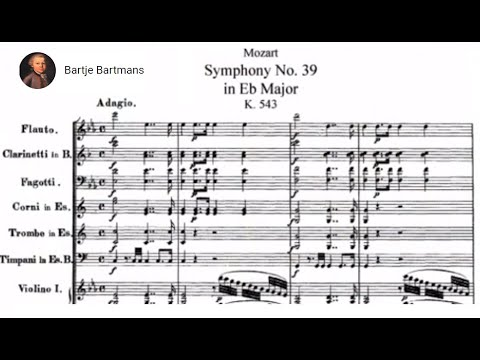 Mozart - Symphony No. 39 in E flat major, K. 543 {Schmidt-Is