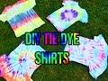 Easy D.I.Y Tie Dye Tee s 4 Different Ways