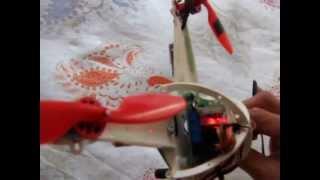 Micro quadricóptero (voo interno)
