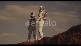 Astronaut suit for sale. Two astronauts on mars by AnyRobots
