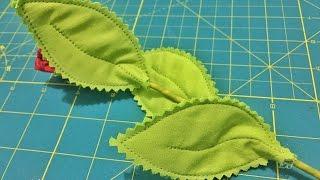 Como fazer Folhas de Tecido – How to make fabric leaves