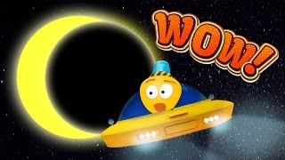 Solar Eclipse Cartoon | Video About Space For Kids | Moon