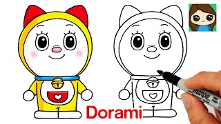 How to Draw Dorami Easy | Doraemon