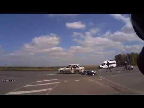 Авария мотоциклиста - трасса м6....