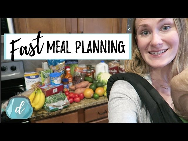 Fast Meal Planning On A Budget Feat Walmart Online Grocery Youtube