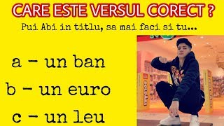 CARE ESTE VERSUL CORECT abi - &quotRege pa Romania&quot