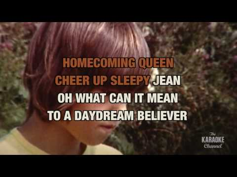 Daydream Believer in the style of The Monkees karaoke video with lyrics (no lead vocal)