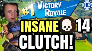 *INSANE CLUTCH* I SOLO TURNERING! 14 Kill Win!🤯