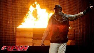 Bray Wyatt sends a fiery message to The Undertaker: Raw, March 2, 2015