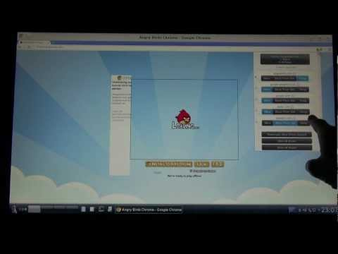 Linux + Chrome +  Angrybirds + Touchscreen (german | deutsch)
