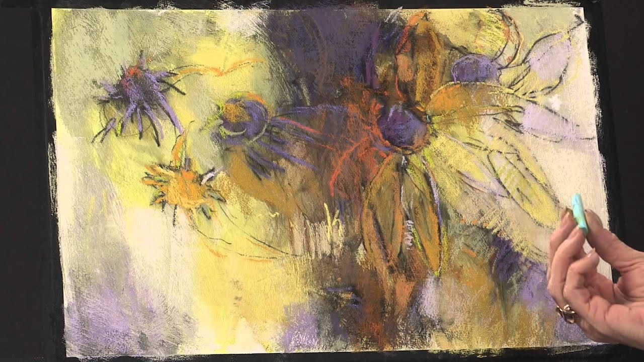 Preview Abstract Painting Techniques Flowers In Pastel
