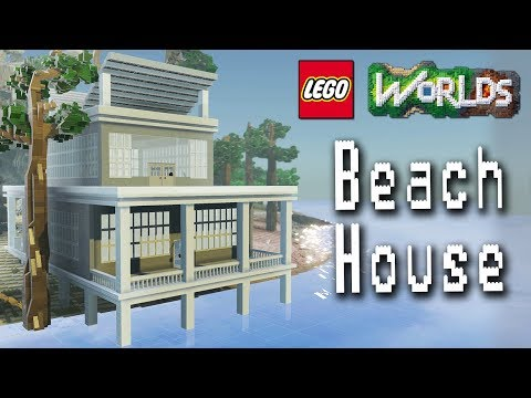 Designing and Building in Lego Worlds: Let's Build a Beach House! Part 1