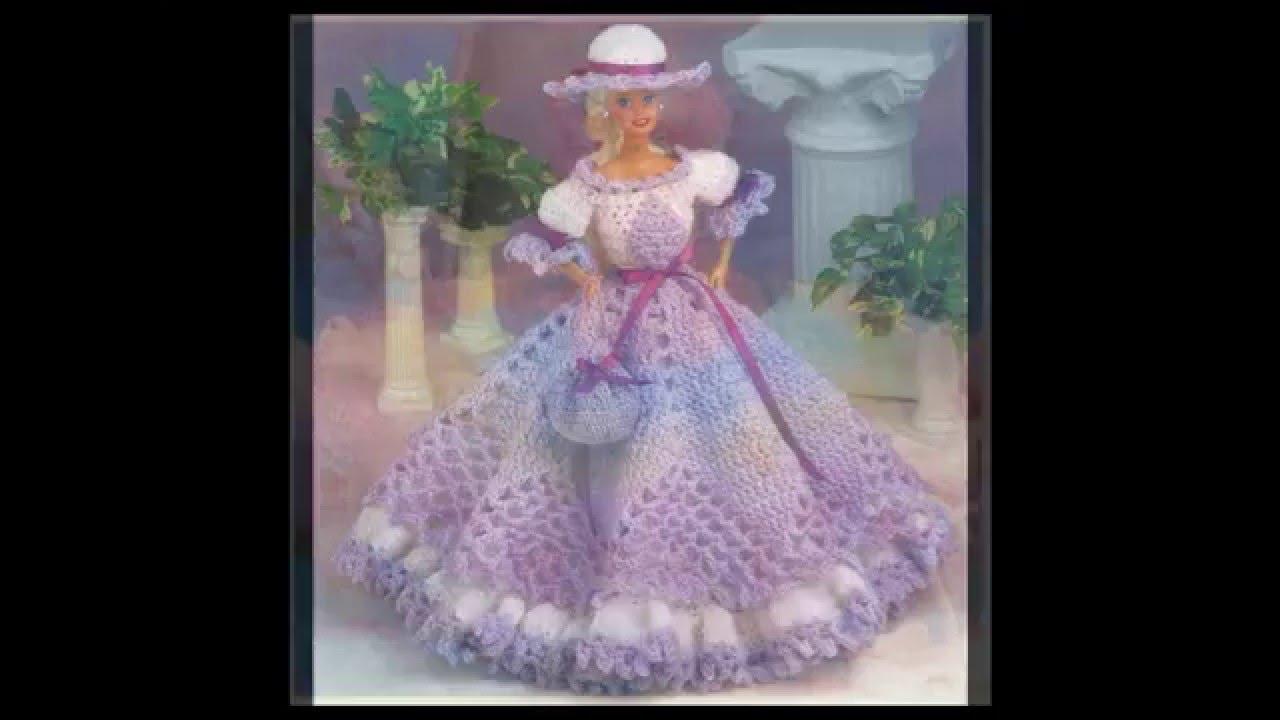 Vestidos Para Muñecas Tejidas A Crochet Imagenes
