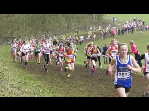 Under 13 Girls UK Inter Counties National Cross Country Championships 11032017