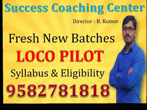 TOP & Best Loco Pilot Coaching Center in South Delhi Khanpur - Syllabus & Eligibility