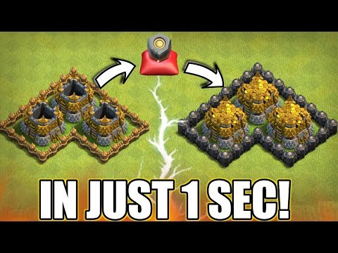FILL YOUR GOLD STORAGES IN 1 SEC | LET'S USE RUNE OF GOLD | CLASH OF CLANS