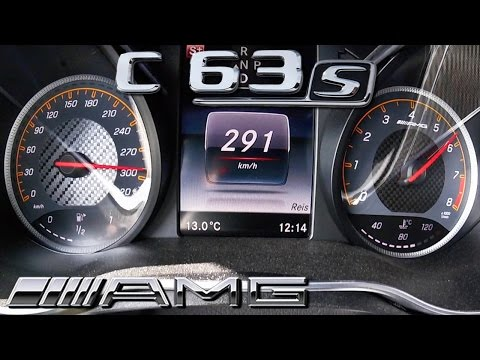 Mercedes C63 S AMG ACCELERATION & TOP SPEED 0-291 KM/H By AutoTopNL