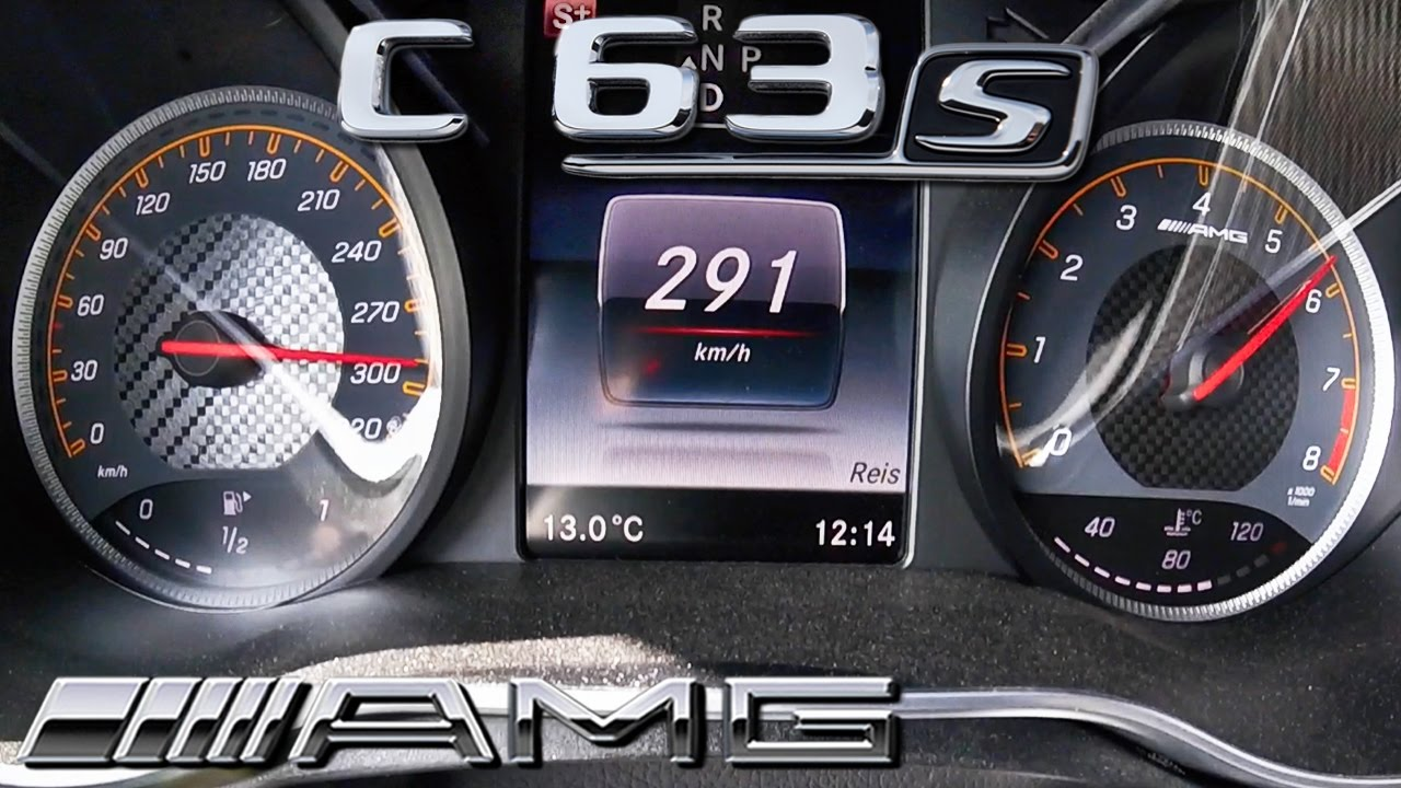 mercedes c63 s amg acceleration top speed 0 291 km h by autotopnl rh youtube com