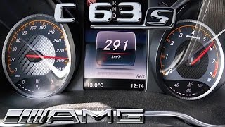 Mercedes C63 S AMG ACCELERATION TOP SPEED 0 291 KM H By AutoTopNL