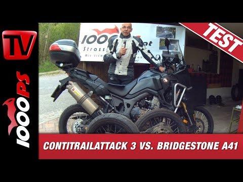 ContiTrailAttack 3 vs. Bridgestone A41 Nassvergleich - Varahannes testet im Regen!