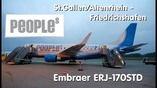 ✈TRIP REPORT | People' s Viennaline (Economy) | Altenrhein - Friedrichshafen | Embraer E170