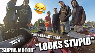 FUNNY CAR SHOW REACTIONS in my Single Turbo 240SX #5😂