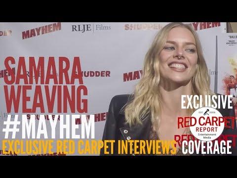 Samara Weaving ed at the Mayhem Premiere at BeyondFest
